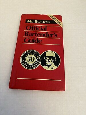 Mr. Boston Official Bartender's Guide 50th Anniversary Edition First Printing