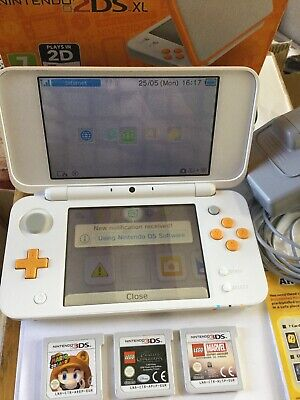New Nintendo 2DS XL Console. Mario 3d Land, Lego Pirates And Marvel & Charger