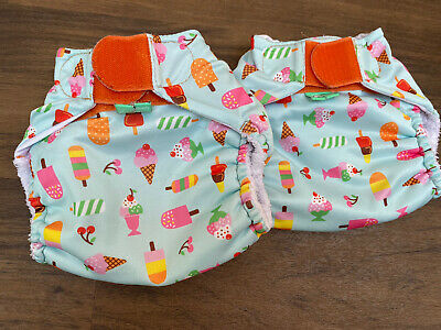 Totsbots Reusable Swimming Nappy Lightly USED X2 Ice Cream Size 2