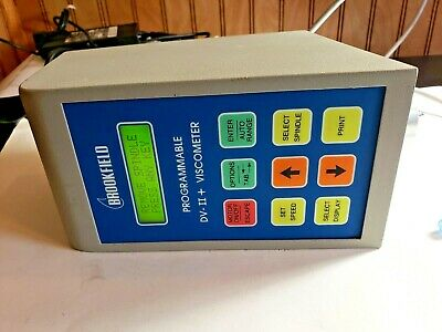 Brookfield Programmable LVDV-II+ Viscommeter with online manual Tested on