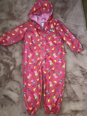 Puddle Suit / Rain Suit, Peppa Pig, Aged 3-4 Years - Excellent Condition