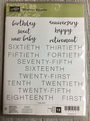 Stampin' Up! Retired MILESTONE MOMENTS Stamp Set Pre-owned