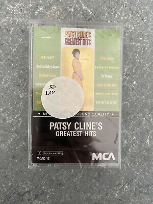 VTG Sealed Patsy Clines Greatest Hits Cassette Tape - Ships Fast