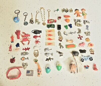 Huge Lot 70+ PIECES Vintage Prize Charms Figurine Gumball CJ? Toys 60's 70's