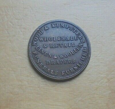 Northumberland Newcastle Wood & Kimpsters Drapers Farthing size token