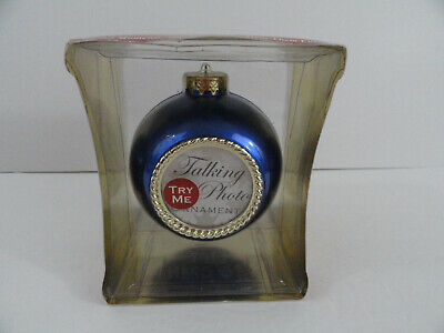 Holiday Voices Talking Photo Christmas Holiday Ornament Blue