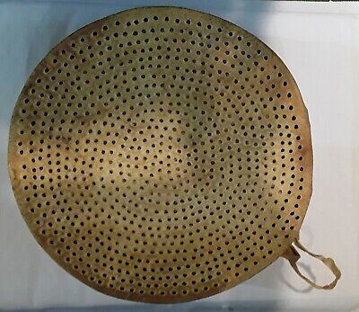 Antique DRUM Sieve - Handcrafted Wooden RIDDLE DRUM Sieve
