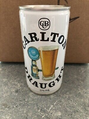 VTG RARE Carleton Draught AU Steel Pull Tab - 375 ML - Great Condition Beer Can