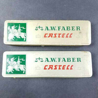A.W. FABER CASTELL PENCILS 9000 GERMANY TIN Of 5 HB  AND TIN OF 1 3H 2 HB & 1 4H