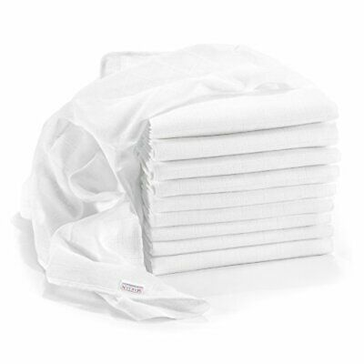 Makian - Baby Muslin Squares / Burp Cloth / Swaddles, 10 Pack, Large 80x80 cm,