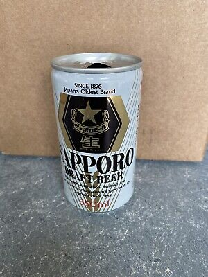 VTG RARE Sapporo Draft Beer - 12 FL. OZ. - Great Condition Beer Can