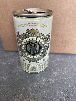 VTG RARE Henry Weinhards Private - 11.8 FL. OZ. - Great Condition Beer Can