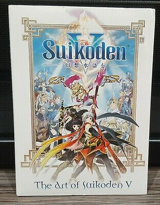 2006 The Art of Suikoden V Promo Art Book & Soundtrack CD Sealed New - PS2