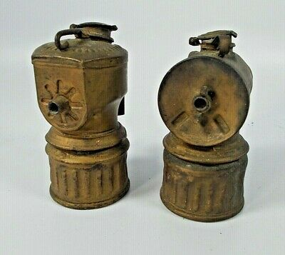 2 Antique Mining Lanterns, Hand Lamp, Justrite