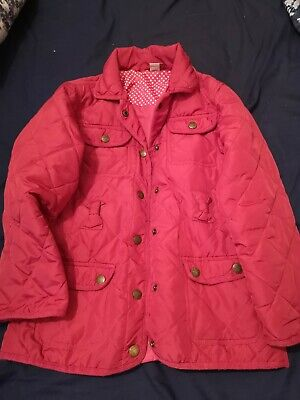 Girls Lightweight Quilted Jacket In Raspberry Age 7-8 by Tu