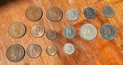 Mauritius 1942 to 1978 Collection of 16 Coins (1 Cent to 1 Rupee) George VI