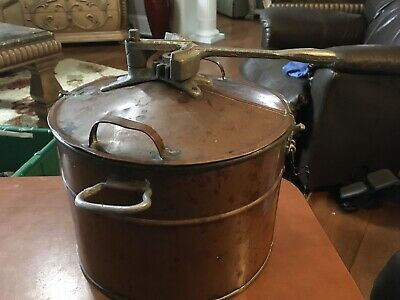 Antique Copper Paramount Steam Washer Salesman Sample 1925 Patent Wash Tub