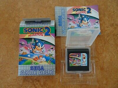 Game Gear Sonic The Hedgehog 2 Box Manual Card Complete