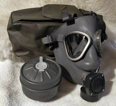 Gas Mask Finnish army M9 M61 protection surplus respirator w bag & filter NOS