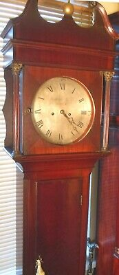 "Antique   Mahogany  ""  Wotton ""  8 Day   Grandfather / Longcase Clock"