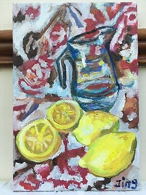 """"""" Still-life""""/ Fruits Original Oil Painting-Small Canvas-New-Only One"""