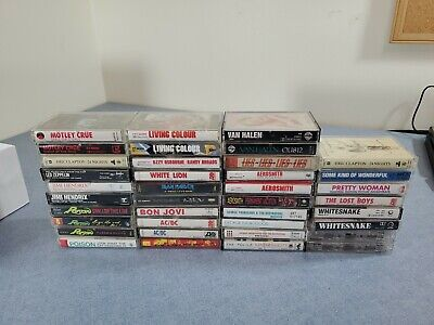 LOT Of 38 Cassette Tapes - Rock, Alternative, R&B, Glam, Big Names