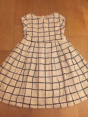 Mayoral Chic Designer Girls Black White Party Dress Outfit 7-8yr