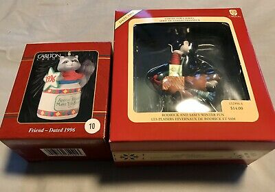 Carlton Cards Christmas Heirloom Collection Ornaments 1994 And 1996