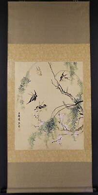 """CHINESE HANGING SCROLL ART Painting """"Bird and Flower""""  #E2388"""