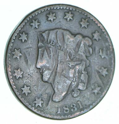Tough - 1831 Matron Head Large Cent - US Early Copper Coin *262