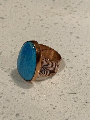 jay king turquoise And Copper Ring