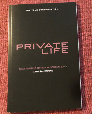 'Private Life' Movie FYC Screenplay