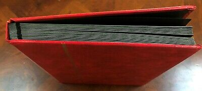 Lighthouse 32 Pages Hardcover Stamp Stockbook Red 9 x 12