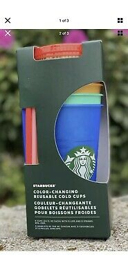 Starbucks 2020 Color Changing Cold Cups Pride Bling Tumbler Confeti New NWT