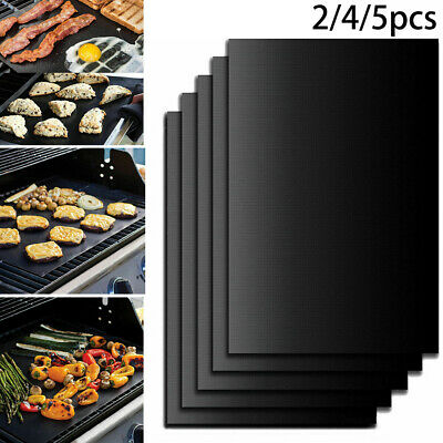 2/4/5X Réutilisable Cuisson Feuille Barbecue Grill Tapis Nonstick Four Pastry