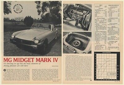 1976 MG Midget Mark IV Road Test 3-Page Article
