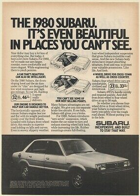 1980 Subaru DL Hardtop It's Even Beautiful in Places You Can't See Print Ad