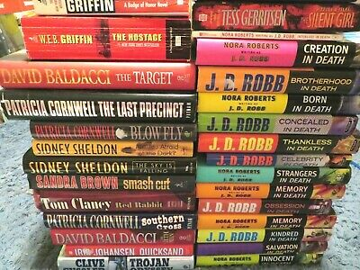 Mystery, Thriller, Suspense Random Book Lot-15 Books, A Mix Of Soft & Hard Cover