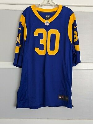 Used Todd Gurley II 30 LA Los Angeles Rams Home Jersey Mens Nike NFL Football XL
