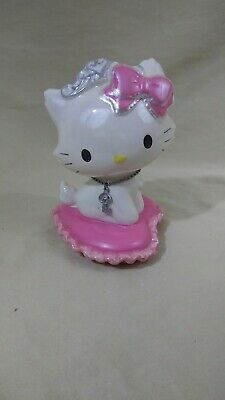 Sanrio Hello Kitty Ceramic Coin Piggy Bank Princess Kitty on Pillow