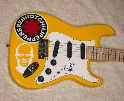 Flea Signed Red Hot Chili Peppers Autographed Custom F/S Electric Guitar W/Proof