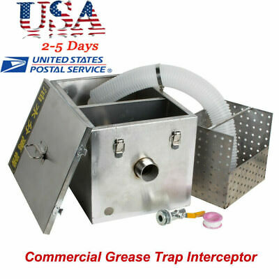Commercial Stainless Steel Grease Trap Interceptor Set For Restaurant Wastewater