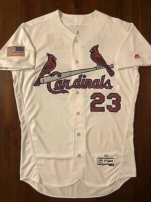 2016 St. Louis Cardinals Game Used Bill Mueller Independence Day Jersey and Cap