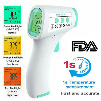 G Infrared Thermometer Digital LCD Forehead No-Touch Body Adult Temperature Gun