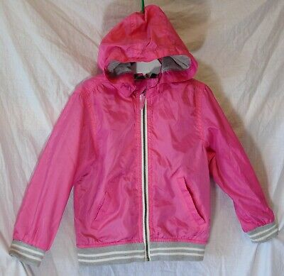 Girls H&M Pink Cotton Lined Hooded Spring Summer Light Jacket Coat Age 3-4 Years