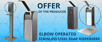 Elbow operated stainless steel disinfection liquid dispenser from producer