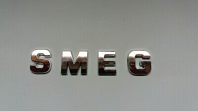 New Chrome / Silver Smeg Letters. 27Mm. Self Adhesive. Similar Font To Original