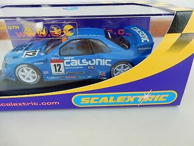 Scalextric C2638 Nissan Skyline GTR Calsonic, lights - mint boxed - RARE