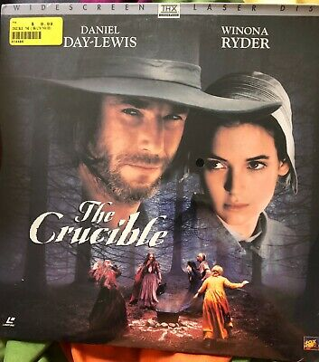 THE CRUCIBLE / LASERDISC (not DVD) - WIDESCREEN - DAY-LEWIS/ RYDER - NEW  SEALED