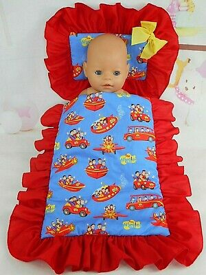 Dolls~The Wiggles~Red/Blue Pillow & Quilt Cover Set For~ Bed, Cot, Pram, Cradle